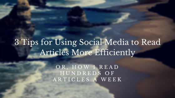 3 Tips for Using Social Media to Read