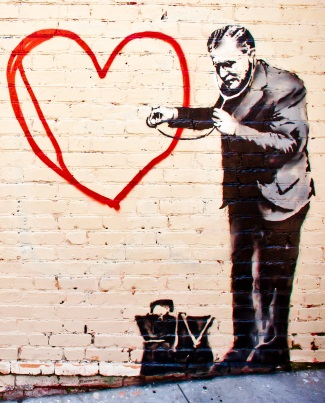 Banksy Dr and Heart