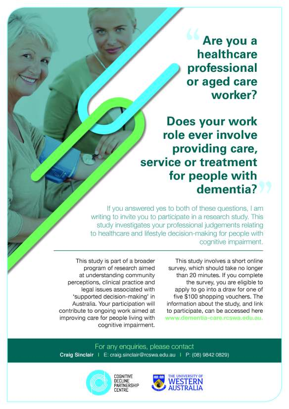 Decision-making in dementia survey