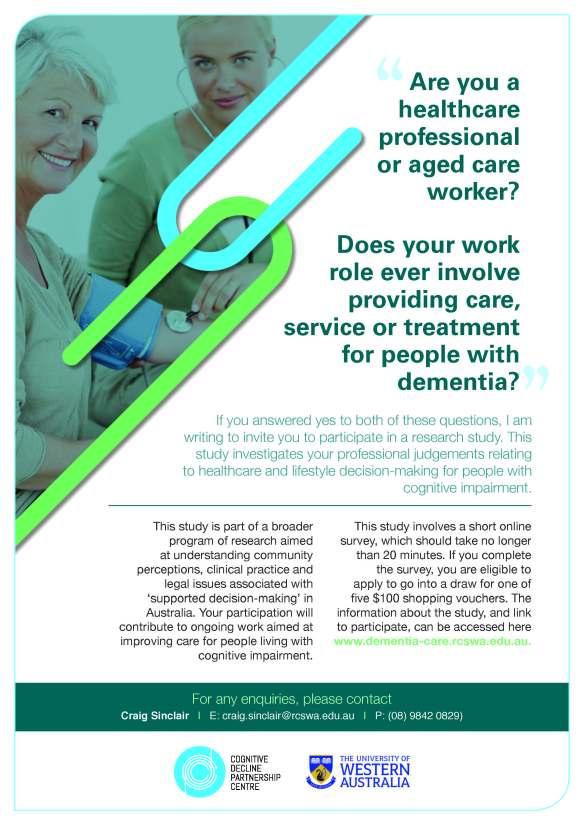 Decision-making in dementia survey